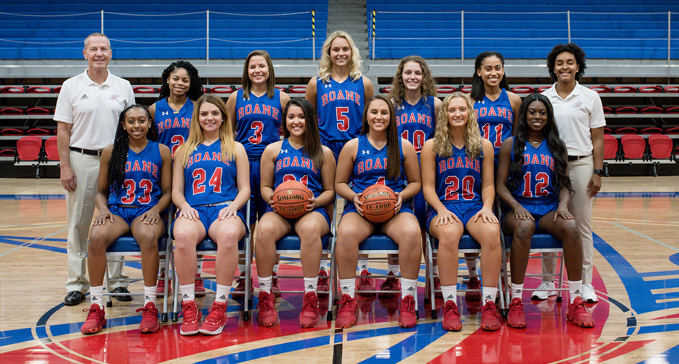 Shown are the Roane State Lady Raiders. Front row, from left: Laprasia Ward, Riley Guillemet, Paige Gentry, Christina Pack, Sara Mikels and Mykeia McCullough. Second row, from left: Coach David Harnish, Naomi Jefferson, Rebecca Lemasters, Sydney O'Leary, Nicole Jones, Kiara Inman, and assistant coach Angel Allen.