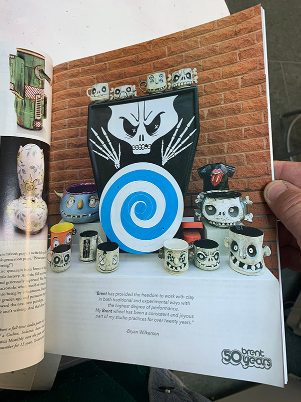 "This ad featuring some of the whimsical creations of Roane State art professor Bryan Wilkerson was featured in a recent edition of ""Ceramics Monthly."""