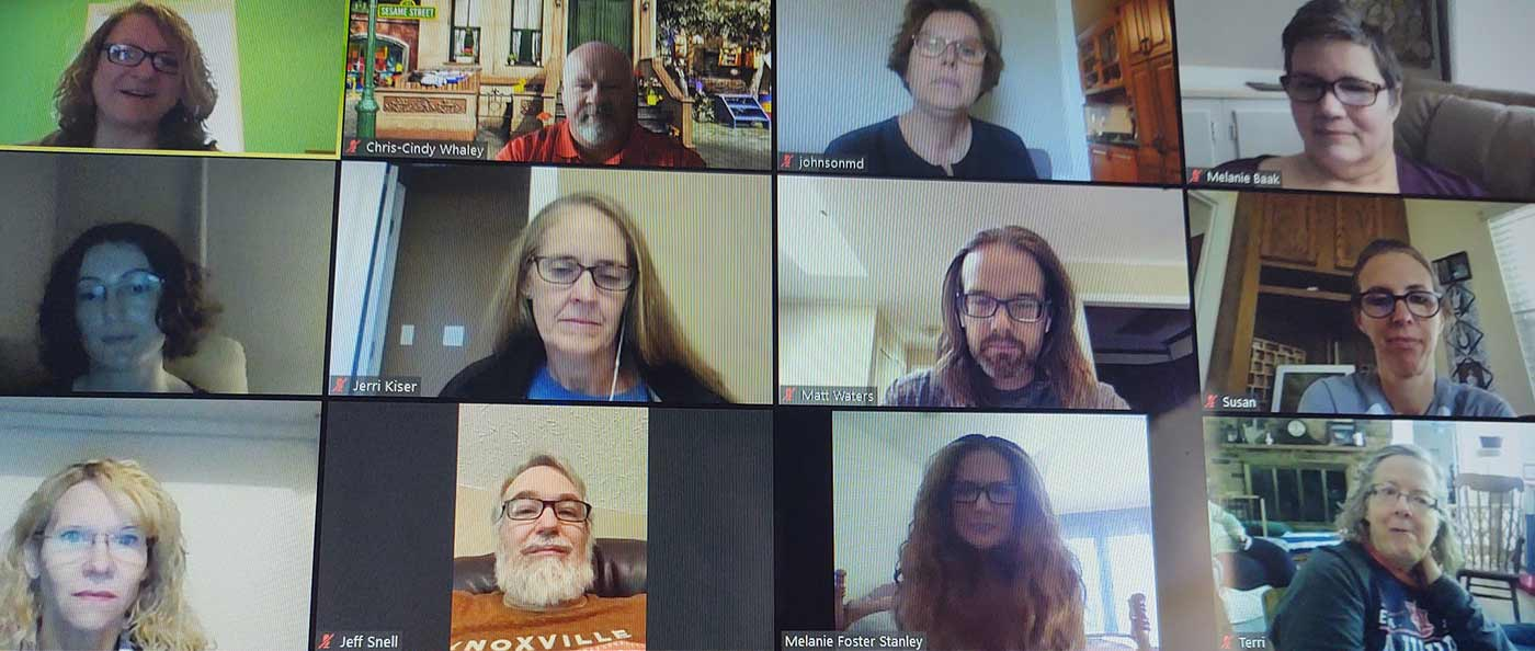 Screenshot of a Zoom meeting
