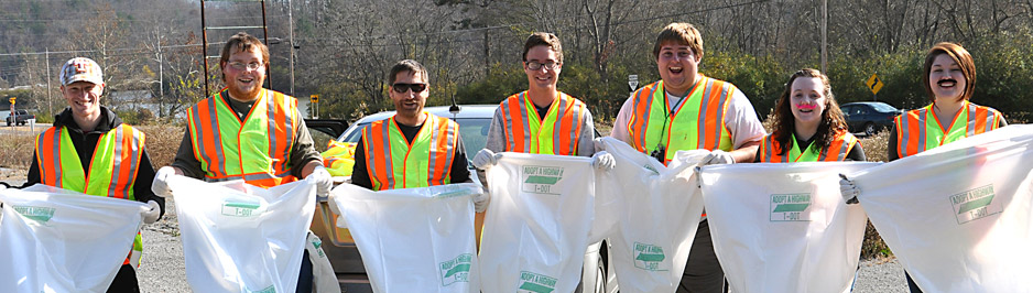 MOE members working with Adopt A Highway