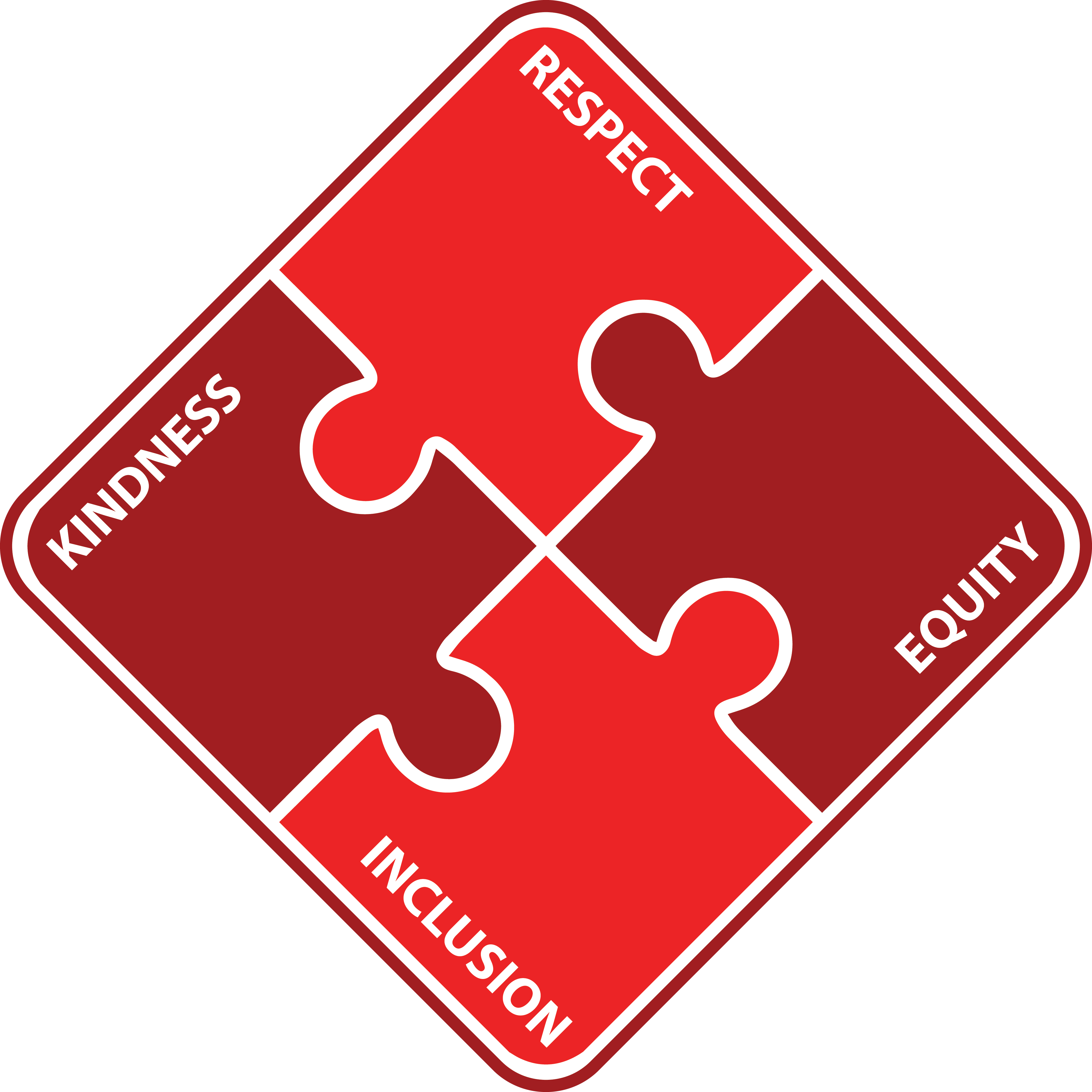 Equity Logo: Kindness, Respect, Equity, Inclusion