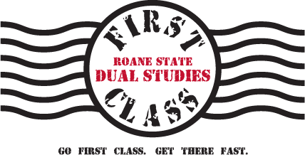 Logo: Roane Stat Dual Studies, Go first class. Get there fast.