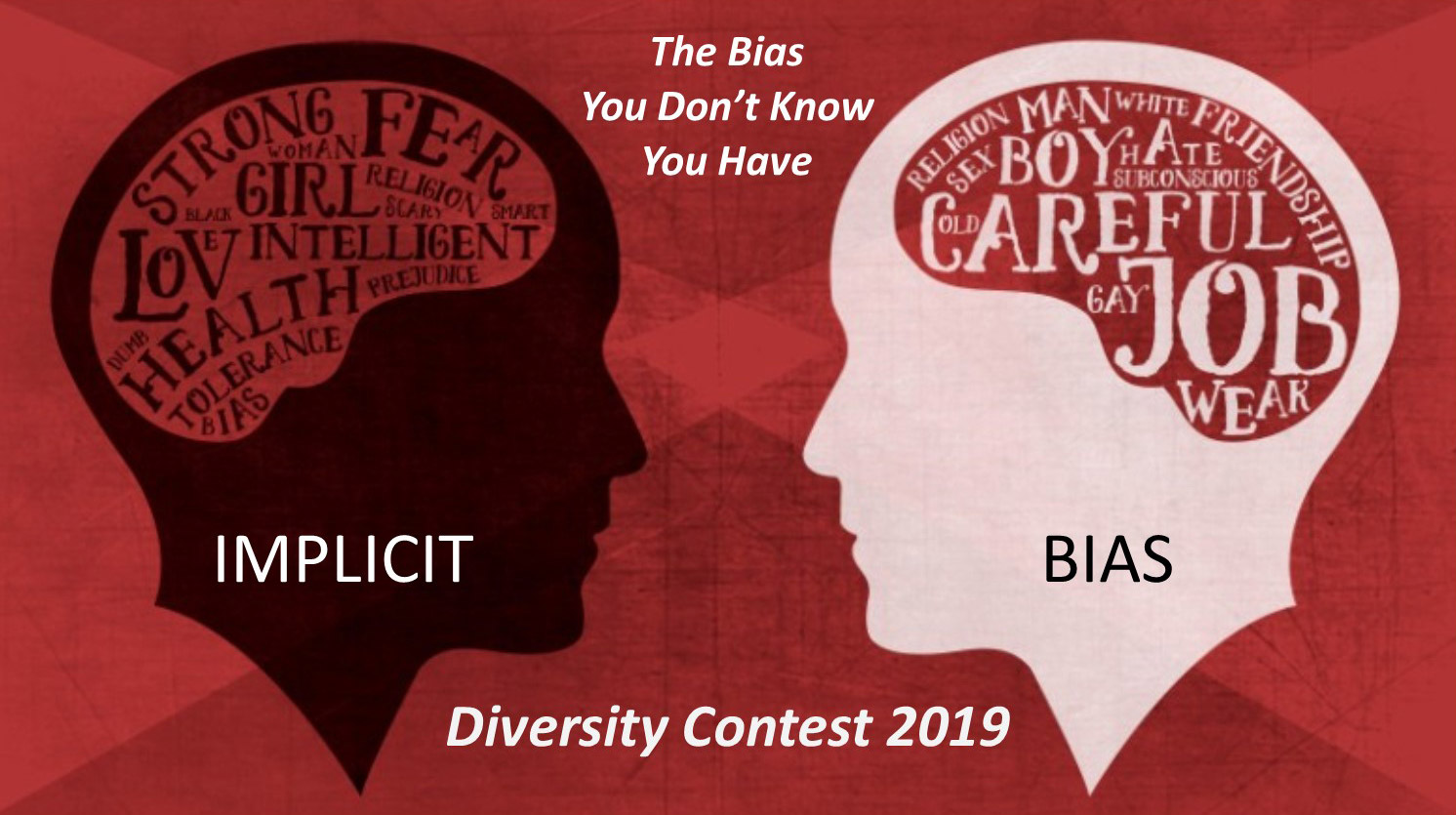The Bias You Don't Know You Have: Implicit Bias. Diversity Contest 2019